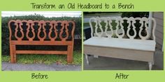 From a headboard to a bench!