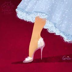 La Cenicienta. El tacón más famoso de todos los tiempos optó por el clásico look minimalista de Stuart Weitzman. | Los zapatos de las princesas Disney acaban de recibir un makeover encantador