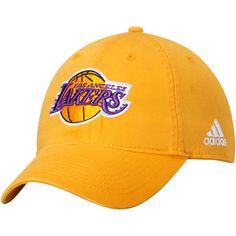 ee72d0082c3 Men s adidas Gold Los Angeles Lakers Basics Slouch Adjustable Hat