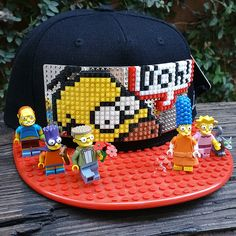 Some people like wearing caps and some people like Lego. Diy Crafts For Kids, Gifts For Kids, Gifts For Women, Gifts For Her, Lego Hat, Diy Hat, The Simpsons, Porsche Logo, Cool Gifts