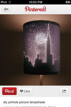Lampshade with pin holes