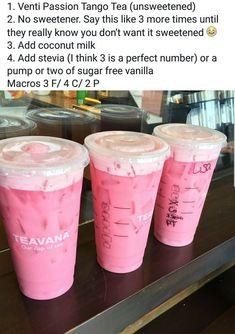 10 Starbucks Drink Suggestions // 100 Calories & Under Starbucks Hacks, Secret Starbucks Recipes, Starbucks Secret Menu Drinks, Starbucks Coffee, Smoothie Vert, Smoothie Drinks, Starbucks Smoothie, Yummy Drinks, Healthy Drinks