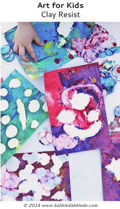 easy art projects clay resist