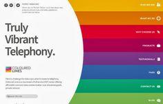 Flat Web Design - coloured lines