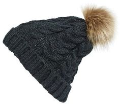 So nice to find a cozy vegan hat for winter! BP. Knit Beanie with Faux Fur Pompom #vegan #veganhat