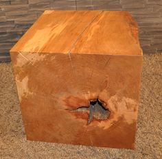holzsäule sitzblock hainbuche klotz cube hocker massivholz, Wohnzimmer dekoo