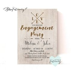 Printable Engagement Party Invitation // ANY FONT by AfterFebruary