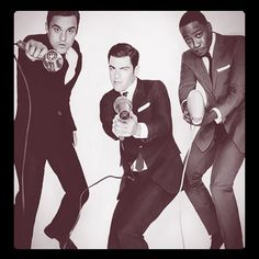 Great suits on Jake Johnson, Max Greenfield, and Lamorne Morris. The fellas of New Girl. The perfect trio