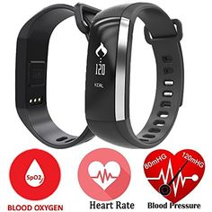 Smart Band Watchband Smartband Smartwatch Watch Heart Rate Blood Oxygen Pressure Monitor Pedometer Fitness Activity Tracker WristBand For IOS Android iPhone (Black) *** Learn more by visiting the image link. (This is an affiliate link and I receive a commission for the sales)