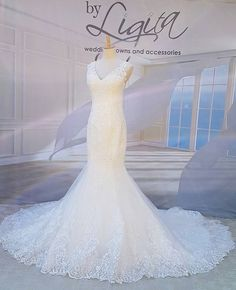 "Based in Kempton Park, Johannesburg, By Ligita is a Bridal Couture Boutique with several ranges of Wedding Gowns and Dresses including ""Aurora"" from Nicole Spose. Wedding Gowns, Wedding Day, Mermaid Coloring, White Fabrics, Lace Detail, Tulle, Bride, Elegant, Collection"
