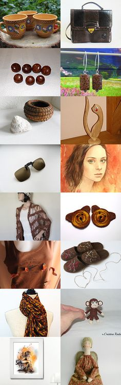 Brown finds  by styledonna on Etsy--Pinned+with+TreasuryPin.com