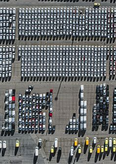 Cars on parking lots by Bernhard Lang l #shippingharbour