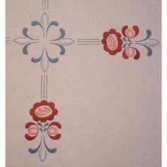 Ritad duk Jugend 80x 80 cm Art Nouveau, Art Deco, Floral Design, Embroidery, Colorful, Needlepoint, Floral Patterns, Cut Work, Art Decor