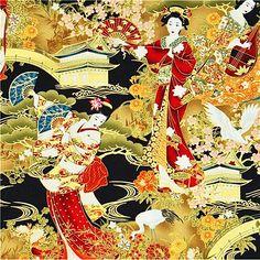 Timeless Treasures - Kabuki-CM1641-Black