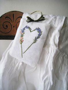 Lavender cross-stitch