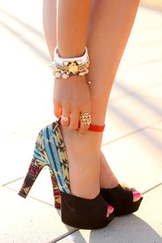 Besides the bracelets the shoes are really pretty too!
