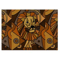 Awesome Lion Art Abstract #lion #art #cuttingboard #kitchen And www.zazzle.com/inspirationrocks*