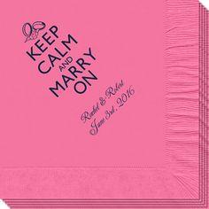 Keep Calm and Marry On Napkins