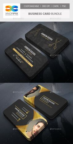 Business Card Bundle by -axnorpix Barber Business Cards, Buy Business Cards, Business Cards Layout, Professional Business Card Design, Business Design, Creative Business, Modern Business Cards, Corporate Business, Corporate Design
