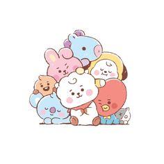 Bts Chibi, Character Group, Cute Little Drawings, Kawaii Doodles, Group Pictures, Bts Drawings, Kpop Fanart, Bts Lockscreen, Laptop Decal