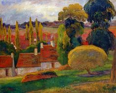 Farm in Brittany by Paul Gauguin in oil on canvas, done in Now in Metropolitan Museum of Art. Find a fine art print of this Paul Gauguin painting. Modern Art, Post Impressionism, Eugène Henri Paul Gauguin, Fine Art, Metropolitan Museum Of Art, Painting, Art, Canvas Art, Paul Gauguin