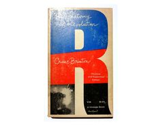 """Paul Rand paperback book cover design, 1965. """"The Anatomy of Revolution"""" by Crane Brinton. by NewDocuments on Etsy"""