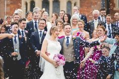 Sophia Tolli for a Sophisticated Wedding at Crewe Hall.  Image by Sarah Horton Photography.  Read more: http://bridesupnorth.com/2016/09/05/roses-tweed-sophia-tolli-for-a-sophisticated-wedding-at-crewe-hall-laura-luke/  #wedding #confetti