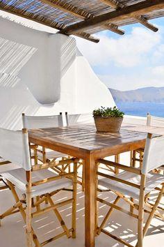 Alfresco dining at its finest. Mykonos Panormos Villas (Mykonos, Greece)