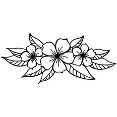 how to draw sketches Flower Tattoo Designs, Flower Tattoos, Floral Drawing, Flower Design Drawing, Simple Flower Drawing, Silhouette Design, Silhouette Store, Tattoo Stencils, Flower Doodles