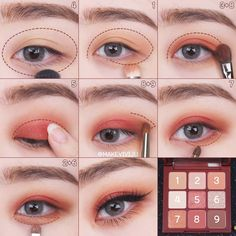 for teens asian Korean Makeup Look, Asian Eye Makeup, Makeup Eye Looks, Eyebrow Makeup, Eyeshadow Makeup, Beauty Make-up, Beauty Makeup Tips, Asian Beauty, Natural Beauty