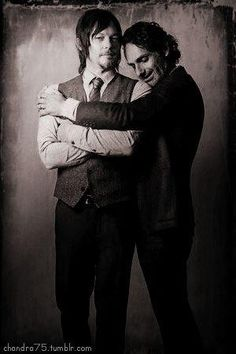 Norman Reedus & Andrew Lincoln. The Walking Dead. by khanittha