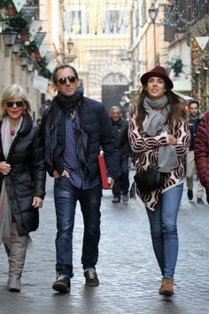 Both Charlotte Casiraghi and Gad Elmaleh looked cool and trendy as they walked through the streets of Rome.