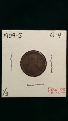 1909-S Lincoln Cent G-4