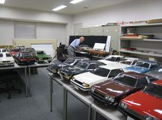 1:5th scale cars from Toyota, amazing!! Wouldn't they be awesome to have. Check out the detail.
