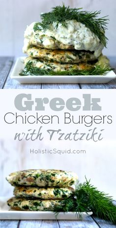Greek Chicken Burgers with Tzatziki - Holistic Squid