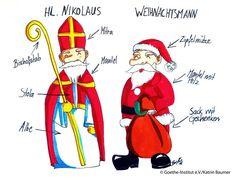 der Nikolaus gegen den Weihnachtsmann