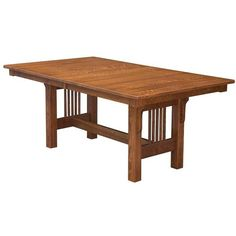 Amish Mission Trestle Table (1 630 AUD) ❤ liked on Polyvore featuring home, furniture, tables, dining tables, extension tables, butterfly leaf table, butterfly dining table, expandable dining table and expandable kitchen table