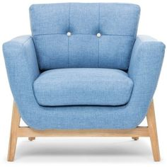 Tess Armchair Denim Blue (2,640 SAR) ❤ liked on Polyvore featuring home, furniture, chairs, accent chairs, interior, chair, home items, occasional chairs, fabric accent chairs and fabric furniture