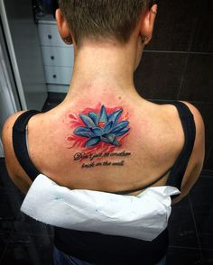 #lotus #back # colorful #tattoo