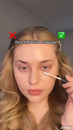 Makeup Tutorial Eyeliner, Makeup Looks Tutorial, Contour Makeup, Eyebrow Makeup, Skin Makeup, Highlighter Makeup, Make Up Contouring, Makeup Tutorial Videos, Concealer
