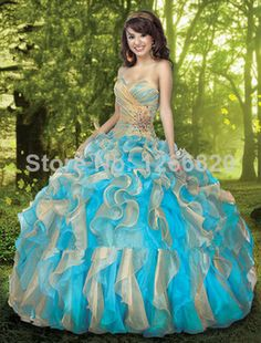 Multi-Color Quinceanera Gowns Dress A Line Wedding Bridal Ball Gown Prom Evening Party Dress Custom