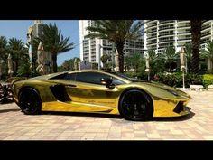 First Gold Plated Lamborghini Aventador LP700-4 Better only Lamborghini Veneno,Lamborghini Egoista - YouTube
