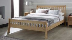 £459.95 The Serene Colchester Oak Bed is simply beautiful and offers a beautiful sense of style to any bedroom.  This oak bed comes in three sizes double, king and super king.