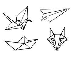 tatoo origami | origami tattoo – Etsy FR