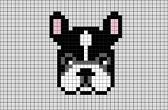 French Bulldog Pixel Art from BrikBook.com #FrenchBulldog #animal #pet #Dog #Breed #Frenchies #pixel #pixelart #8bit Shop more designs at http://www.brikbook.com