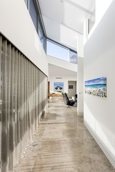 Hallway flood with light, featuring Jura Blue Stone flooring. Stone Flooring, Greg Davies, Luxury Homes, Stairs, Building, Architects, Projects, Design, Blue