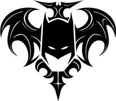 Silhouette Design Store - View Design #32035: batman flourish