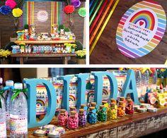 festa arco iris - Google Search Rainbow Party Decorations, Birthday Cake, Mavic, Dream Bedroom, Google Search, Children, Unicorn Party, Rainbows, Ideas Party