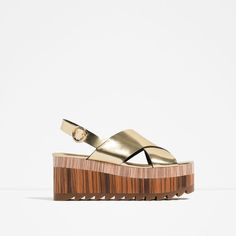 Image 1 of WEDGES WITH CROSS-OVER STRAPS from Zara
