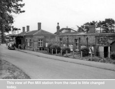 Yeovil Pen Mill Railway Station.
